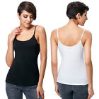 New Women Plain Swing Vest Sleeveless Top Strappy Cami Ladies Plus Size Shirts