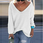 Women Casual Long Sleeve Knitted Pullover Loose Sweater Jumper Tops Knitwear L