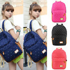 Women Ladies Canvas Shoulder School Bag Backpack Travel Satchel Rucksack Handbag