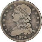 1834 CAPPED BUST QUARTER DOLLAR 25c VERY FINE VF+