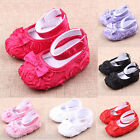 Baby Girls Children Soft Sole Toddler Infant Walk Rose Bow Flower Princess Shoes
