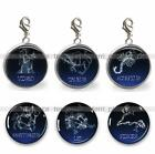 Zodiac Signs Horoscope Glass Top 20mm Clip On Add On Charm Pendant