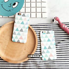 Sketchy Painted Hybrid Korean style colourful Triangle Case for iPhone 6 6S Plus