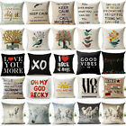 Horse Beautiful Word Cotton Linen Pillow Cases Sofa Cushion Covers Pillow Covers