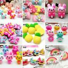 10pcs Mixed Colors Cartoon Resin Flatback Hair Accessories DIY Craft 9 Designs-D