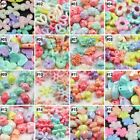 100pcs Plastic Colorful Loose Beads  For Kids Set Fun Jewellry Making DIY Craft