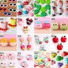 10pcs Mixed Nice Cartoon Resin Flatback Hair Accessories DIY Craft 9 Designs-H