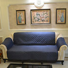 Custom Fit Single Double Multi Seater Sofa Cover Protector Dark Blue Antimacassa