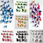 12/24x 3D Butterfly Sticker Art Wall Stickers Decals Room Decorations Home Decor for sale  Shipping to Nigeria