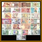 25 Pcs of Different World Mix (Mixed) Foreign Banknotes Currency Lot, Unc