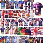 National Flags T-shirt Collection Unisex 3D Printed Short Sleeves Casual Tee US