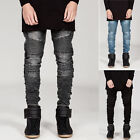 VINTAGE Women Men's Skinny Stretch Slim Fit Stylish Pencil Pants Jeans Trousers