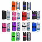 Rugged Dual Holster Hybrid Armor Impact Defend Stand Case Cover For iPhone 6 6S