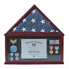 Shadow Box Flag Display Case for 5'X9.5' Funeral Memorial Flag FC07