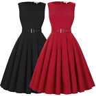 Womens Vintage Style Sleeveless Dress High Stretchy Pagesant Party Evening Dress