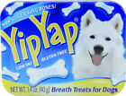 Yip Yap Naturally freshens Dogs breath Bone Shaped Treat 1.4oz Tins Made in USA