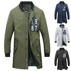 Men's Jacket Warm Winter Collar Casual Long Trench Coat Overcoat Windbreaker New