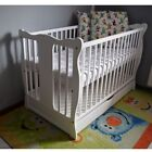 BABY Cot Bed With Drawer Wood White Walnut Mattress Converts to Junior Toddler <br/> SALE PRICE!!!! Reduced to clear!!!