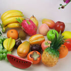 Hot Plastic Fruit Decor Realistic Food Home Decor Apple Lemon Tangerine Plum