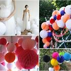 Chic Tissue paper Honeycomb Ball Lanterns Poms Wedding Birthday Party Home Decor