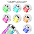 Colorful Home Bathroom LED Shower Head 7 Color Auto Changing Water Glow Light US