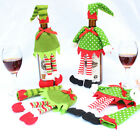 Lovely Stripe Wine Bottle Cover Bags For Christmas Xmas Decoration 1 Set EW