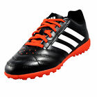 Adidas Goletto V Turf Junior Kids Boys Football Trainers Black Solar Orange