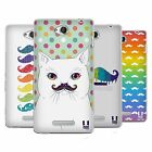 HEAD CASE DESIGNS RAINBOW MOUSTACHE SOFT GEL CASE FOR SONY PHONES 3