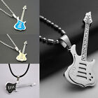 Men Womens Cool Stainless Steel Guitar Pendant Jewelry For Necklace Chain Hot