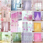 Hot Colorful Print Sheer Curtain Panel Window Balcony Tulle Room Divider Valance
