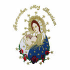 Virgin Mary Pope Embroidered Applique Baptism Christening Santa Maria Papa Patch
