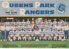 QUEENS PARK RANGERS 1991-1992 RARE HAND SIGNED TEAM GROUP WITH 16 X SIGNATURES