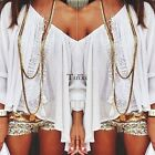 Hot Fashion Casual Long Sleeve Lace Patchwork Loose Top Blouse TXWD