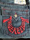 True Religion Jeans BOOTCUT FLAPS RED FOAM Mens Size 38 NEW