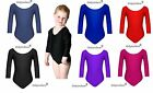 Girls School & PE Sports Gymnastics Leotard Lycra Sport Activewear Top Size 2-16
