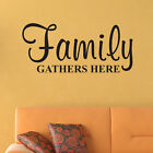 Family Gathers Here WALL DECAL - Pick Size and Color - Family