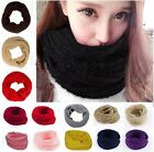 Fashion Women Lady Infinity Double Circle Cable Knit Cowl Neck Long Scarf Shawl