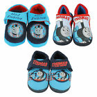 BOYS THOMAS THE TANK ENGINE SLIPPERS BLUE NAVY TRAIN INFANT SIZE LIGHT UP GIFT
