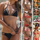 2017 New Sexy Women Triangle Bikini Set Push Up Padded Top Swimsuit Swimwear FO