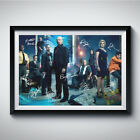 BREAKING BAD TV Full Cast Autograph Reprint Poster A4 5R BRYAN CRANSTON PAUL+