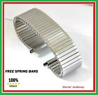 20mm to 25mm EXTRA-LONG STAINLESS STEEL FIXO FLEX STYLE EXPANDING WATCH BRACELET