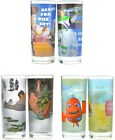 Disney Set of 2 Glass Tumblers Toy Story Jungle Book Finding Nemo New + Official