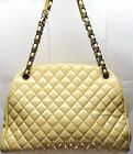 Auth Chanel Beige Quilted Calfskin Just Mademoiselle Bowler Bag with Certificate