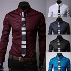 Kyпить Fashion Men's Luxury Business Slim Fit Tops Long Sleeve Casual Shirt Dress Shirt на еВаy.соm