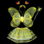 One set of 4 Piece Fairy Princess Butterfly Party Costume (7 Colors)