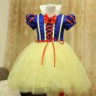 Fashion Show Snow Wihte Princess Fancy Dress Halloween Costumes performing 2-15Y