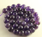 "15"" 1strand 4/6/8/10/12/14MM NATURAL PURPLE QUARTZ GEMSTONE ROUND BEADS 1string"