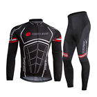 Mens MTB Cycling Bike Long Sleeve Jersey Pants Set Bicycle Sports Clothing Suit