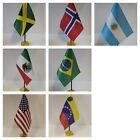 SOUTH & NORTH AMERICA Table Desk Top Flag -USA, CANADA, BRAZIL, ARGENTINA ....