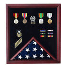 Extra Large Flag and Medal Display Case Hand Made By Veterans